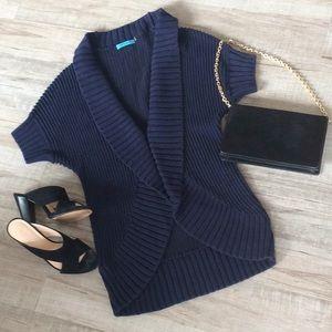 Alice + Olivia Cotton Navy Blue Vest Sz XS/S